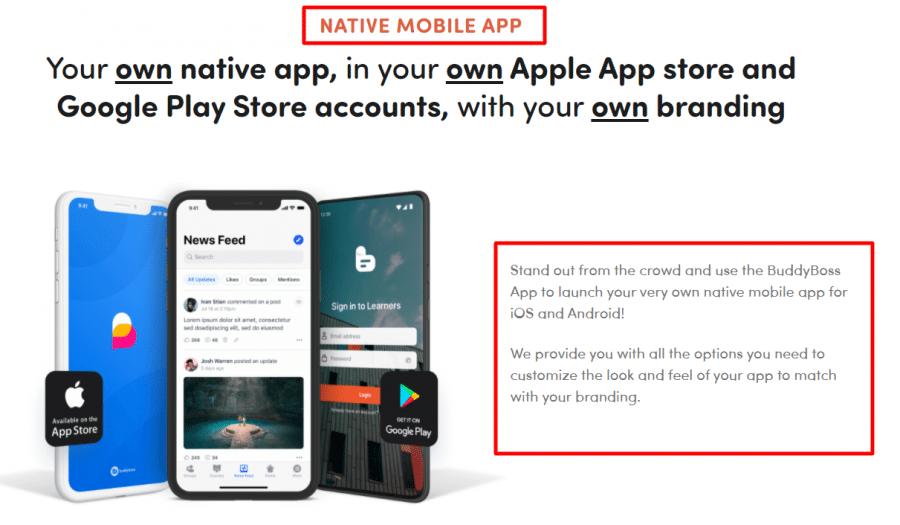 Native Mobile App BuddyBoss Review