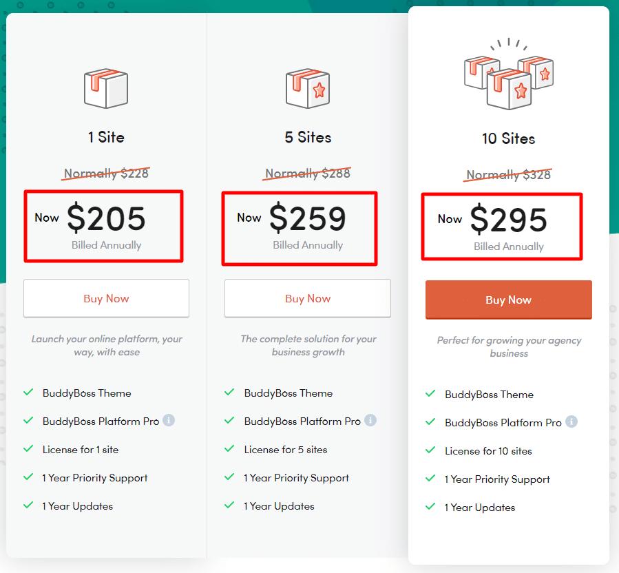 Pricing BuddyBoss Review