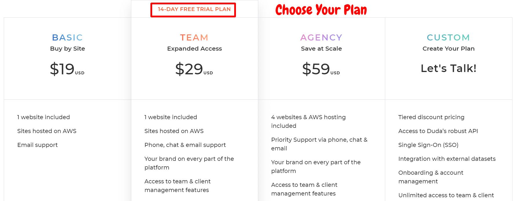 Choose-Your-Plan-Duda-Coupon