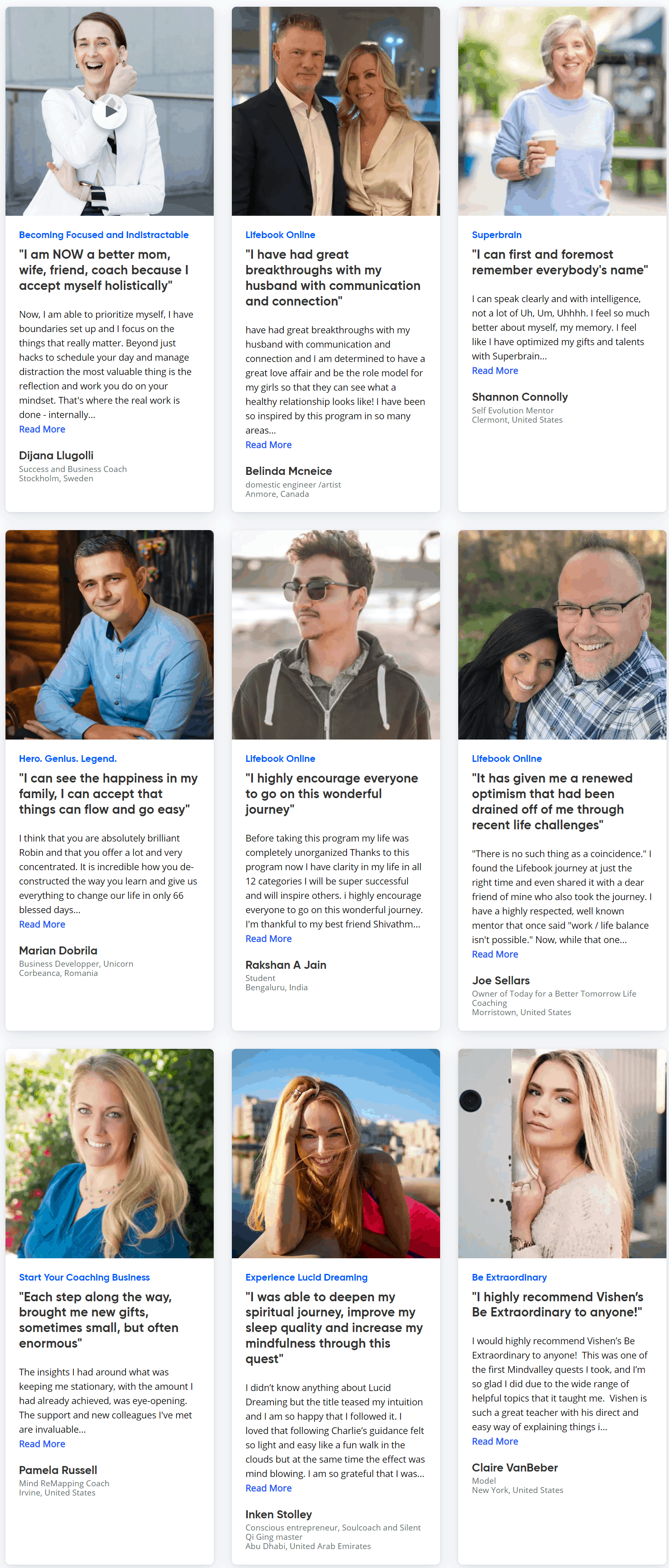Mindvalley people success stories