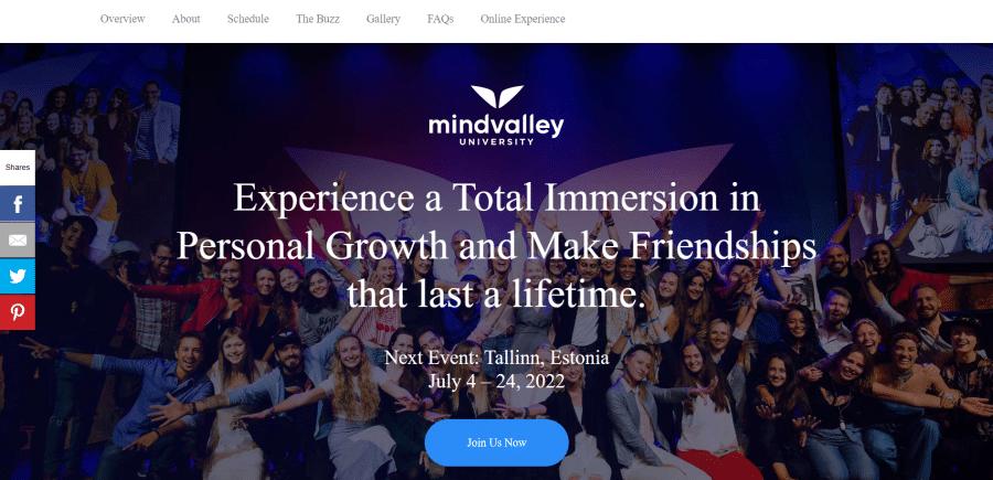 Mindvalley University College Campus Curriculum