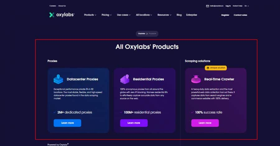 All-Oxylabs-Products