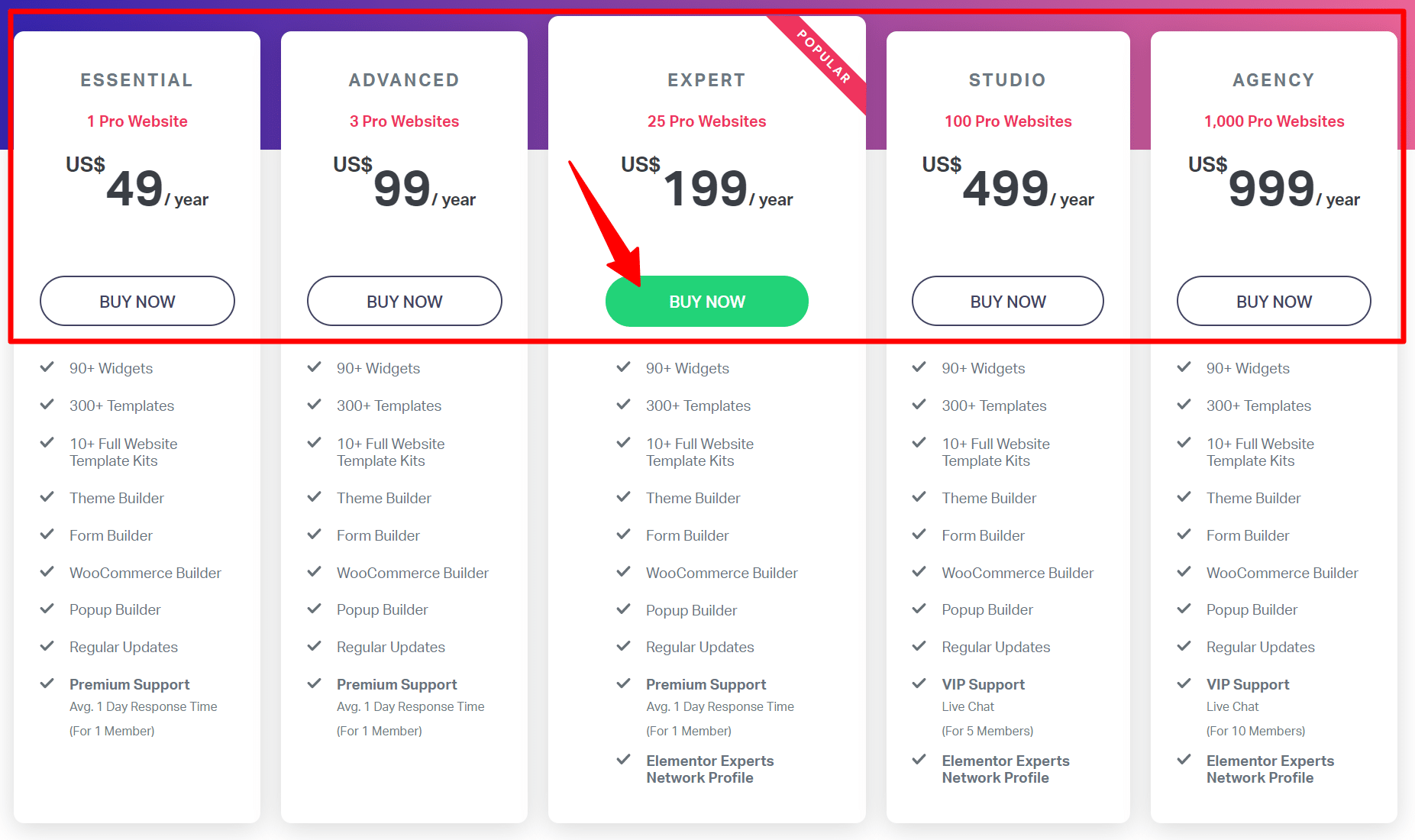 elementor pro discount pricing plans