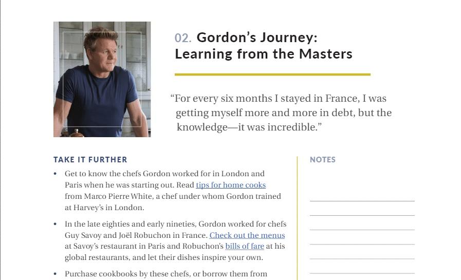 Gordon-Ramsay Masterclass PDF Workbook