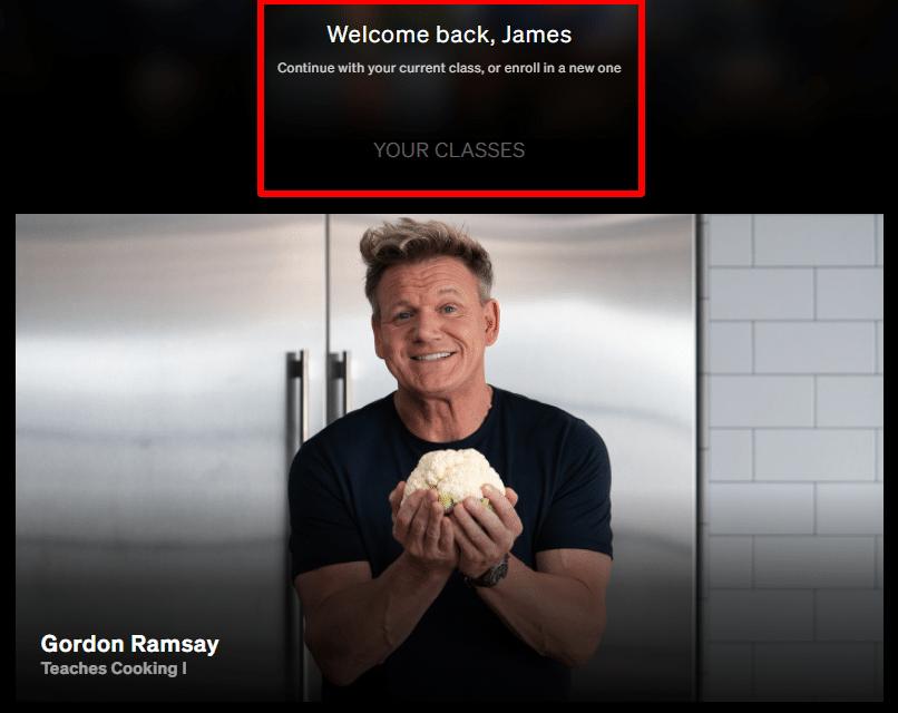 Gordon Ramsay Masterclass Teaching cooking