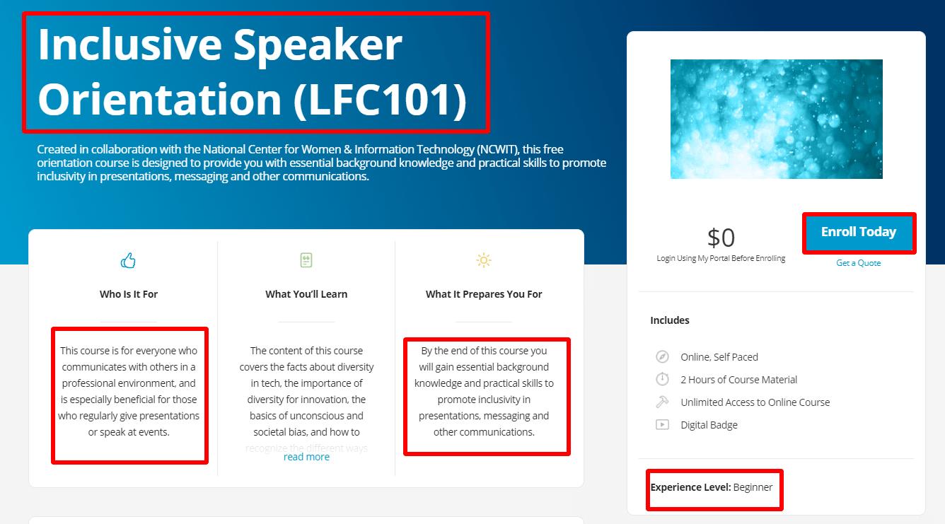 Inclusive-Speaker-Orientation-LFC101-Linux-Foundation-Training