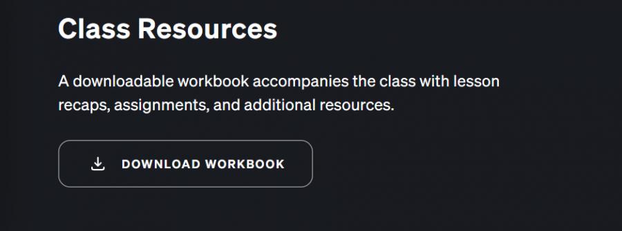 Masterclass course workbook