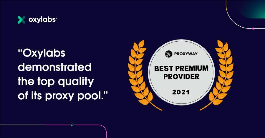 Oxylabs-Award-top-proxy-pool