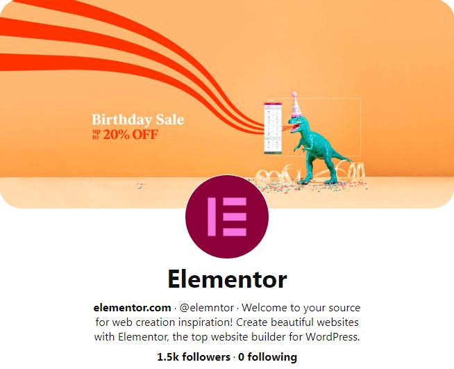 elementor pinterest profile