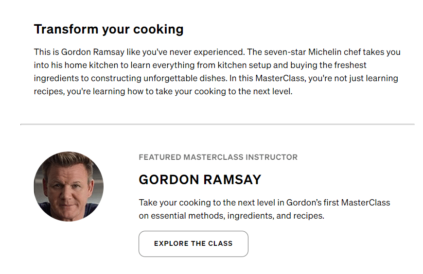 gordon ramsay course structure