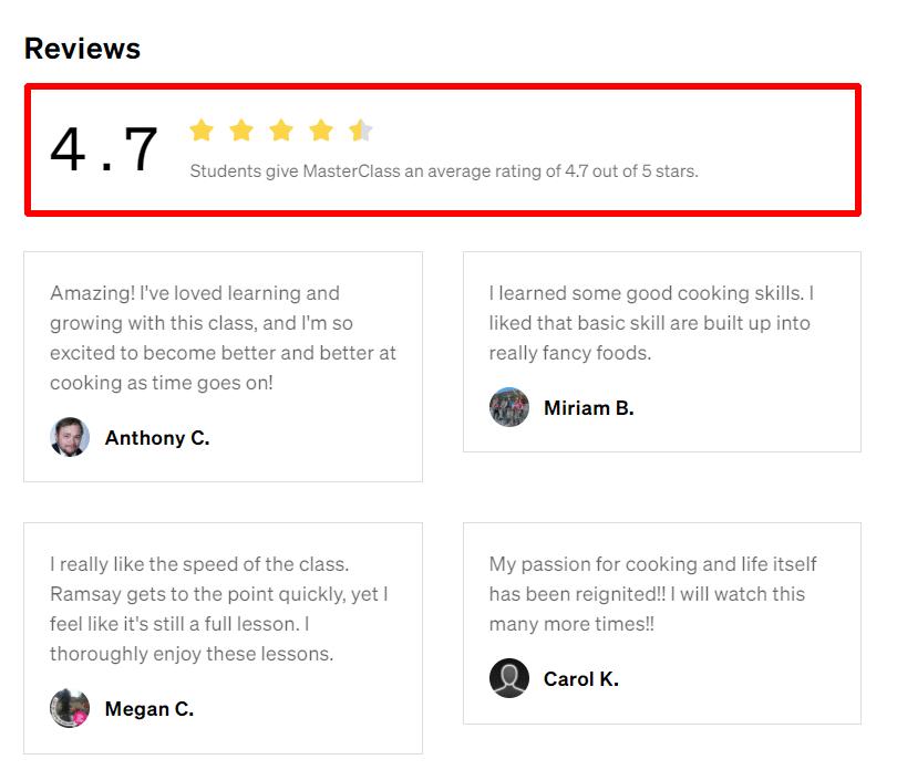 gordon ramsay masterclass reviews
