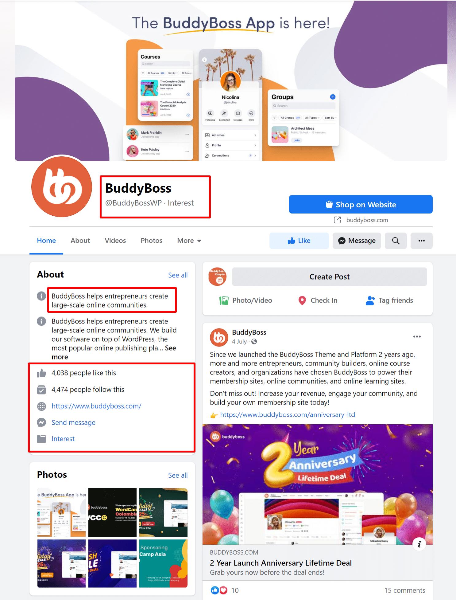 BuddyBoss-Facebook