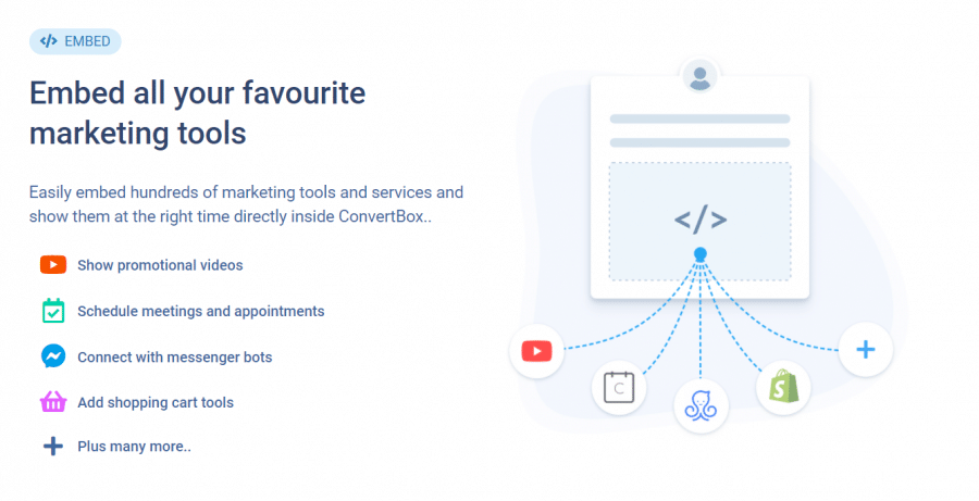 Embed feature of convertbox