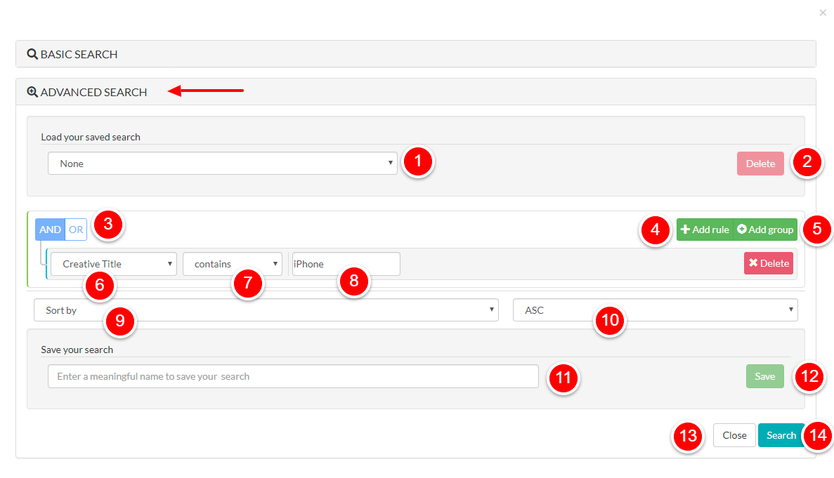 Anstrex Keyword Search And Filters