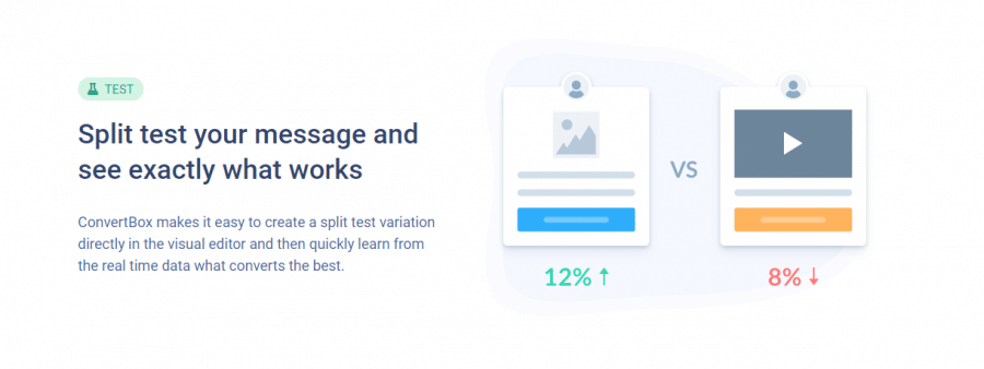 Test features with convertbox