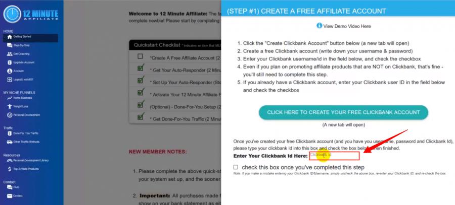 create clickbank account