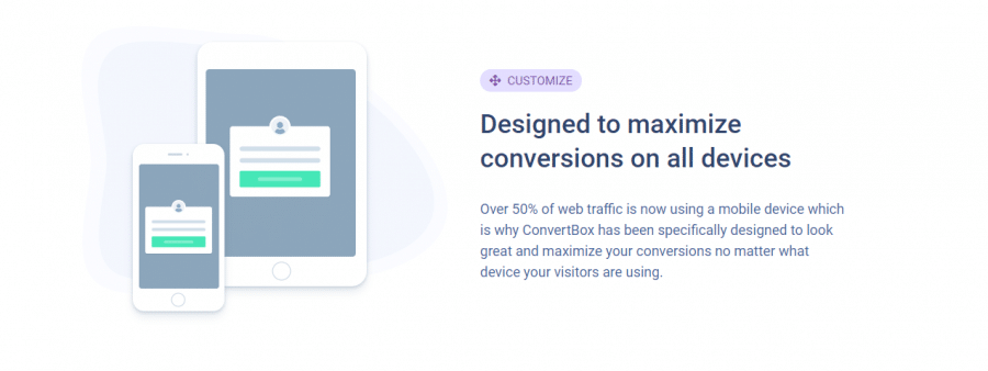 Customize features with convertbox