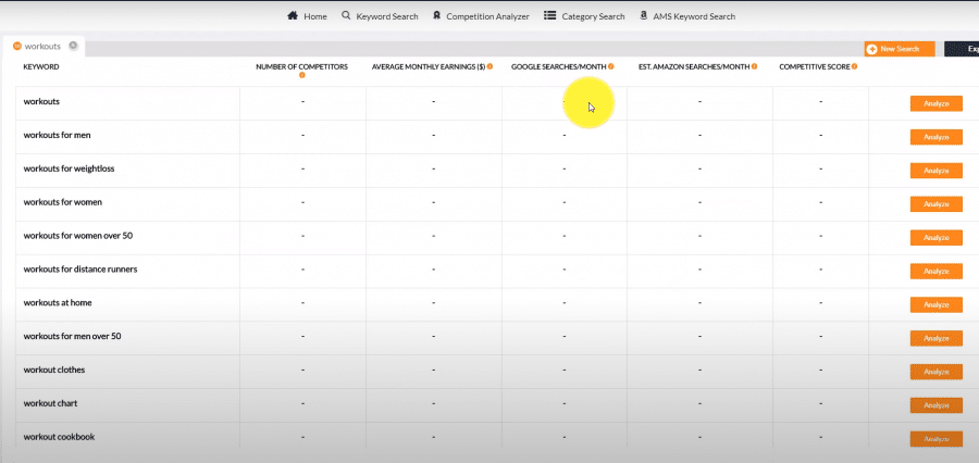 publisher rocket review dashboard