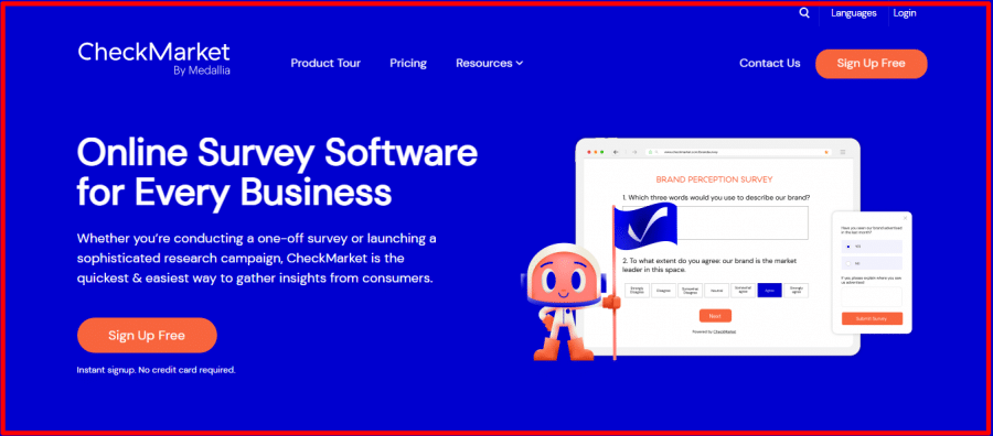 CheckMarket Home Page