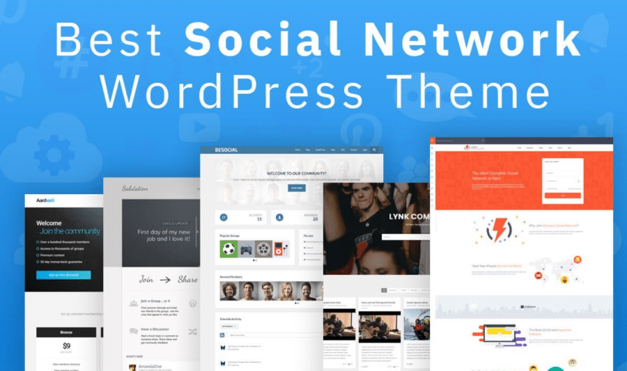 What is a social network theme
