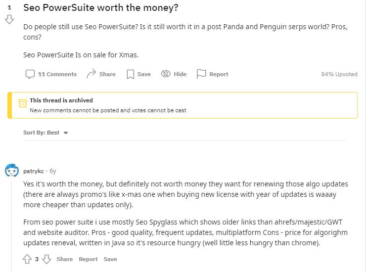 seo-powersuite-customer-reviews-on-reddit-bloggervoice