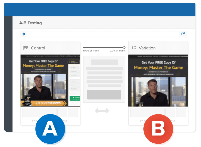 Clickfunnels help you to Quickly Setup Split Tests
