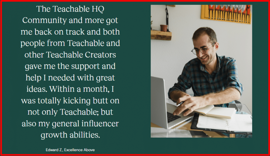 Teachable Testimonial by Edward Z